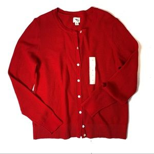 A NEW DAY RED CARDIGAN SWEATER SIZE MEDIUM NEW